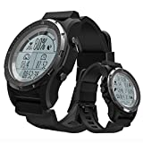 ZJM Sports Smart Watch, Outdoor Waterproof Men's Military Watches with High Pressure Compass