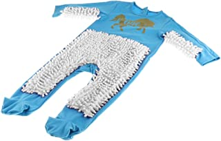 SM SunniMix Lustiger Baby Kleidung Wischmop wischen Boden Strampler Overall Jumpsuit zum Krabbeln Kleinkinder Bekleidung, Farbwahl