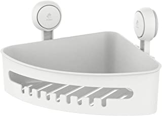 TAILI Corner Shower Caddy Suction Cup NO-Drilling Removable Bathroom Corner Shelf Heavy Duty Max Hold 22lbs Caddy Organizer Waterproof & Oilproof Shower Corner Rack for Bathroom & Kitchen - White