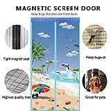 E&L Le Tenda Anti-zanzara in Velcro, Heavy Duty Guarnizione Full Frame Tenda in Rete Lavabile Cucina...