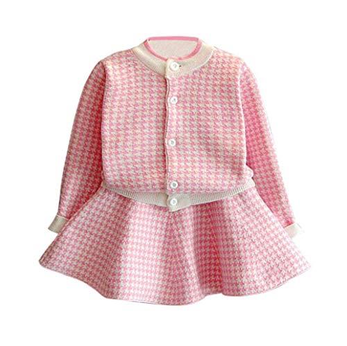 C&M Wodro Girls Dress, Autumn Winter Toddler Kids Plaid...
