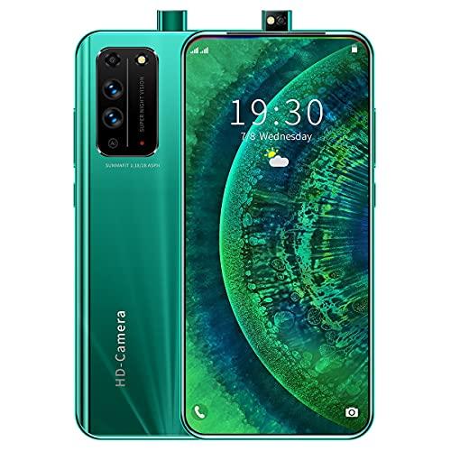 NZQLJT Smartphone, la Cara del teléfono Celular Que desbloquea 6.6 HD Pantalla Completa del teléfono Inteligente 8 + 51 2GB, 16 + 32MP Pixel, 5000mAh, Doble Cards Standby