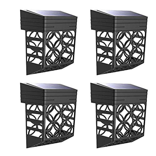 Fayme 4 unidades de luces de valla, impermeables, para exteriores, para jardín, piscina, porche