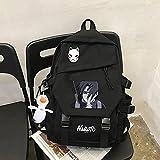 ZQHUAA Mochila Casual de Anime, Naruto: Uchiha Itachi, Bolso de la Escuela, Paquete de Campo de Viaje de Gran Capacidad multifunción, Empiece a la Escuela Regalos de la Escuela, Accesorios de Viaje