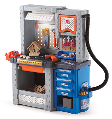 Step2 Deluxe Workshop Playset, Multi Color, 34 x 15 x 40.75 inches (706000)