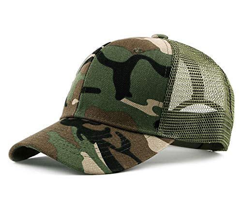 Camouflage Style Maille Casquette Baseball Unisex Été Outdoor Camping Chasse Cap