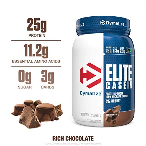 Dymatize Elite Casein 909g gusto Cioccolato