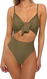 Wanyang Donna Costumi Interi Moda Bikini Imbottiti High Cut Costume Intero Brasiliana Monokini Trikini Costumi da Bagno Ma...