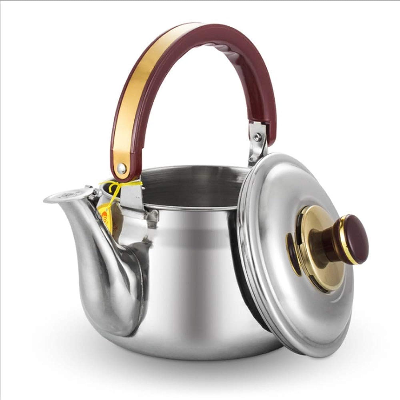 SCJS Hervidor de té Todo Inoxidable, verdeedor Caldera de café Pourover Anti-escaldado Manija Caldera de Agua para Estufas