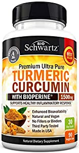 Turmeric Curcumin with BioPerine 1500mg. Highest Potency Available. Premium Joint & Healthy Inflammatory Support with 95% Standardized Curcuminoids. Non-GMO, Gluten Free Capsules with Black Pepper #2