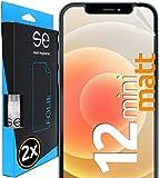 [2 Stück] Entspiegelte 3D Schutzfolien kompatibel mit Apple iPhone 12 Mini, hüllenfre&liche matte Bildschirmschutz-Folie, Schutz vor Dreck & Kratzern, kein Schutzglas - smart engineered