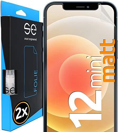 [2 Stück] Entspiegelte 3D Schutzfolien kompatibel mit Apple iPhone 12 Mini, hüllenfreundliche matte Displayschutz-Folie, Schutz vor Schmutz und Kratzern, kein Schutzglas - smart engineered