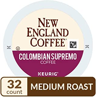 New England Coffee Single Serve K Cup, Colombian Supremo, 32Count