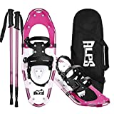 ALPS Lightweight Snowshoes Set for Women,Girls+Trekking Poles,Carrying Tote 21'