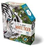 Madd Capp Puzzles - I AM White Tiger - 300 Pieces - Animal Shaped Jigsaw Puzzle