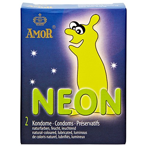 AMOR® Kondome, 2er Pack (Neon)