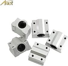 Anet 8mm Linear Bearing Slide Block 5PCS, 8mm Aluminum SCS8UU Linear Motion Ball Bearing CNC Slide Bushing for Anet 3D Printer (5PCS)