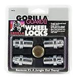 Gorilla Automotive 63631N Chrome Standard Mag Gorilla Guard II Wheel Locks - Set of 4 (12mm x 1.50 Thread...