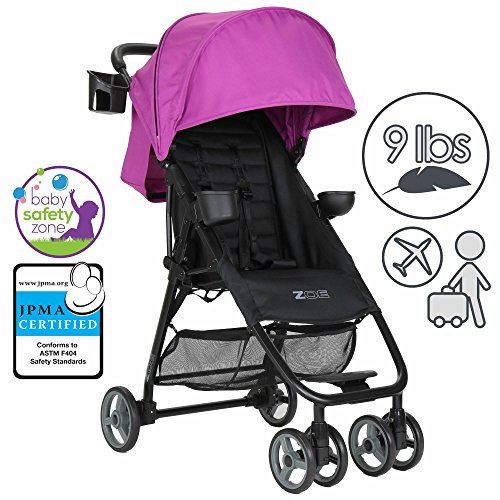 ZOE XL1 Best Xtra Lightweight Travel & Everyday Umbrella Stroller System (Eloise Plum)