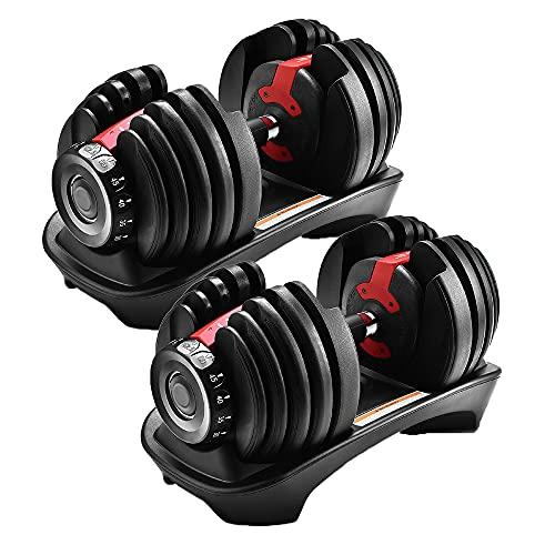 可変式ダンベル 20kg 可変式ダンベル 2個セット 可変式 ダンベル 2kg - 24kg 2個セット 15段階調節 5秒で重量調節 クイックダンベル 筋トレ