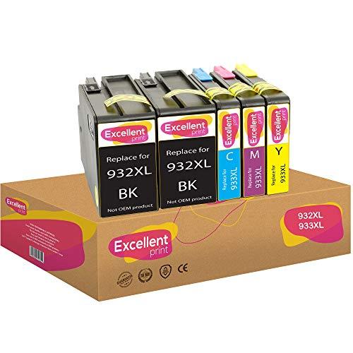 Excellent Print 932XL 933XL 932 XL 933 XL Compatibili Cartucce per HP OfficeJet 7510 6600 6100 7110