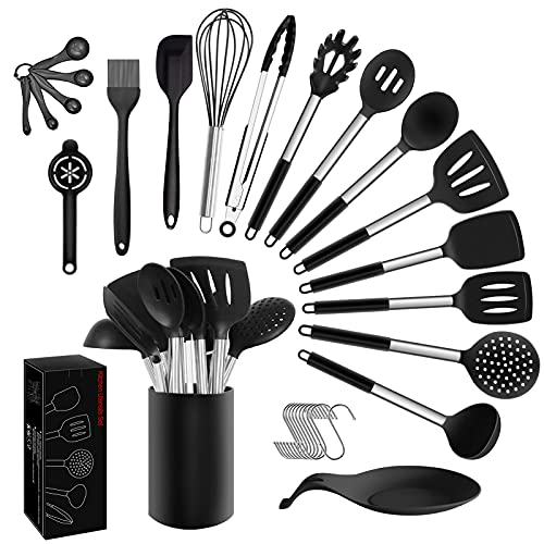 Kitchen Cooking Utensils Set - 30pcs Non-stick...