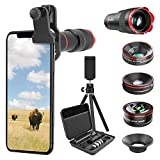 Selvim Phone Camera Lens Kits 9 in 1: 22X Telephoto Lens,