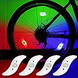 yifengshun 4pcs luz de radios de Bicicleta, Rayo de la decoración Impermeable de la Rueda de la Bicicleta luz del Destello del LED lámparas de neón usadas-Vistoso