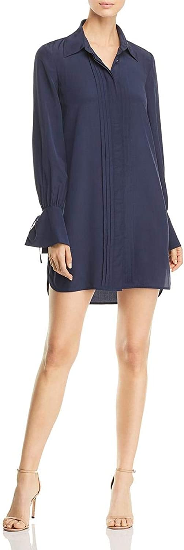 Tory Burch Womens TieSleeve Silk Shirtdress