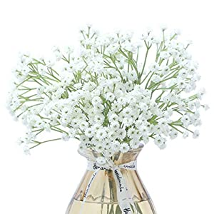 Anna Homey Decor White Gypsophila Artificial Flowers Real Touch 9Pcs 3 Pack Babys Breath Bouquet Fake Silk Baby Breath Flower Lifelike Plants Bouquets for Wedding Home DIY Decor
