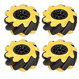 Mecanum Wheel 60mm Kit Auto Robot Intelligente Omnidirezionale per Componenti Giocattolo F...