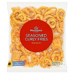 Morrisons Seasoned Curly Fries, 600g (Frozen)