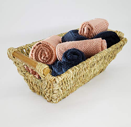 Style 1 LILYCRAFT New Storage Woven Seagrass Basket with Handle
