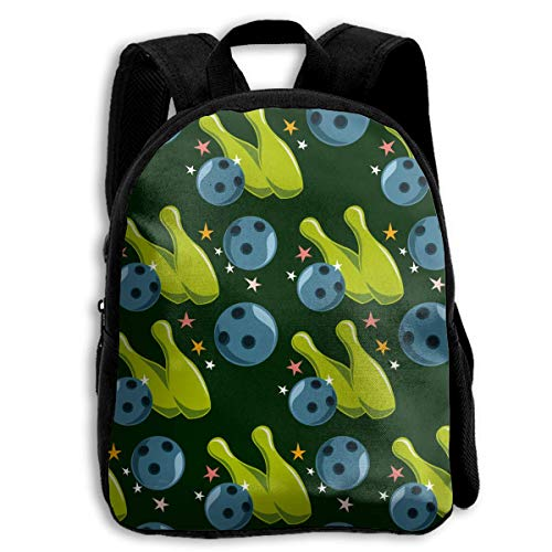 ADGBag Cartoon Bowling Children's Backpack Kids School Bag with Adjustable Shoulders Ergonomic Back Pad Perfect for School Security Sporting Events Kinderrucksack Rucksack