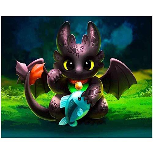 Puzzle 1000 Piezas Dibujo de patrón de Imagen de dragón Lindo Puzzle 1000 Piezas paisajes Juego de Habilidad para Toda la Familia, Colorido Juego de ubicación.50x75cm(20x30inch)