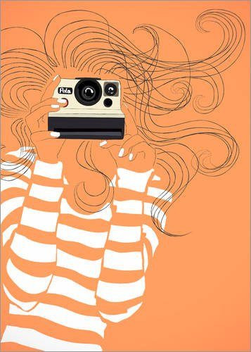 Posterlounge Leinwandbild 70 x 90 cm: Retro Kamera von Jasmin! - fertiges Wandbild, Bild auf Keilrahmen, Fertigbild auf echter Leinwand, Leinwanddruck