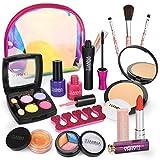 Dreamon Trucchi Bambina Set, Lavabile Makeup Realistico per Bambini con Borsa Cosmetica Giochi Regalo Bimba 5 Anni