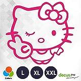 Decus Pegatina de Hello Kitty Victory L 1960, color rosa