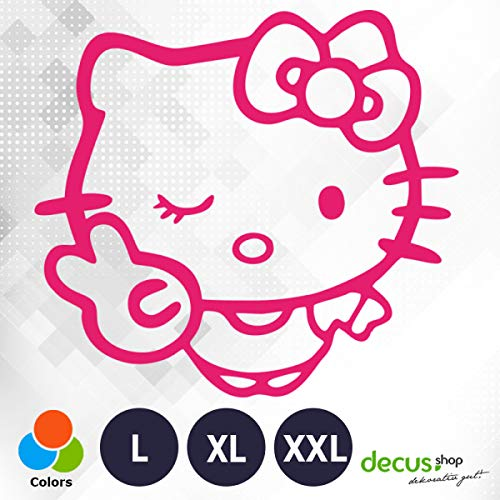 Decus Hello Kitty Victory L 1960 (rosa) // Sticker OEM JDM Style Aufkleber