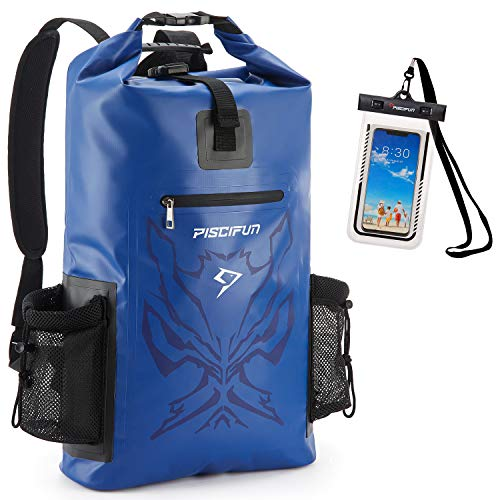 Piscifun Angry Face Dry Bag - Bolsa Impermeable para teléfono (20 L, 40 L, 50 L), 40L US, Azul