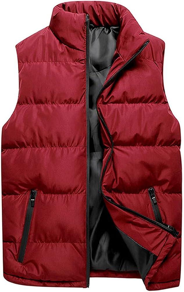 Men Casual Winter Max 68% OFF Hooded Popularity Zipper Sleeveless Inn Outwear Coat Vest