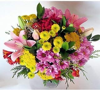 REGALAUNAFLOR-Ramo de flores variadas-FLORES NATURALES-ENTREGA EN 24 HORAS DE MARTES A SABADO.