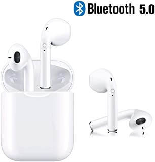 Bluetooth 5.0 Headsets Bluetooth Headphones 3D Stereo IPX5 Waterproof Pop-ups Auto Pairing Fast Charging for Apple of airpods and Airpod Sports Earphone Apple Wireless Earbuds