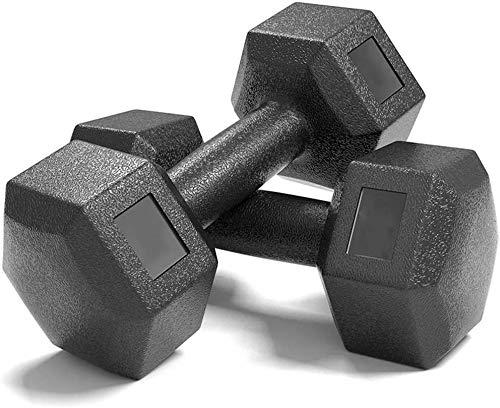 Hanteln Sechseckige Hanteln Für Männer Arm Training Damen Home Fitnessgeräte Abnehmen Und Formen Kunststoff Hantel(Size:5 kg,Color:schwarz)