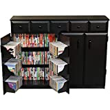 Media Cabinet with Drawers- Black