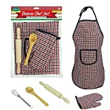 Kinder Kochset,Kinder Baking Chef Set Kinder - Backutensilien Enthalten Schürze Kochen Und Backen Set Chef Rolle Rollenspiel Kostüm Outfit
