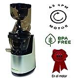 Juissen último modelo extractor zumo verde - Libre PVC - BPA FREE prensado en frio COLD PRESS Licuadora Exprimidor naranjas frutas Boca ancha 8cm - Garantía 10 años REGALO 4 EBOOK receta + kit tofu