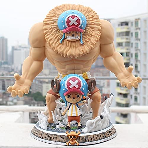 MizzZee Anime One Piece GK Estátua Tony Chopper 2 Formulários Brinquedos Coleção Figura de PVC 39 cm