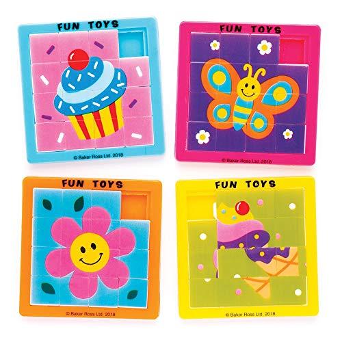 Baker RossGemischte Themen Schiebepuzzles (5 Stück) – perfekt als kleine Partyüberraschung oder als Geschenk für Kinder