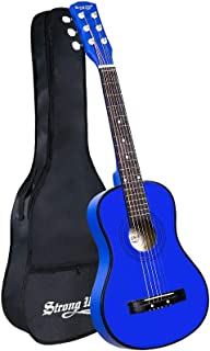 30 Inch Beginner Acoustic Guitar kids Guitar 1/2 Size Child Guitars Steel Strings with Gig Bag for Adult Students (Blue)